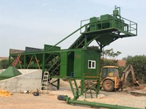 Dry mix concrete mixing plant installed in Fiji